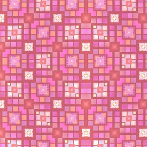 Meandering rose blocks
