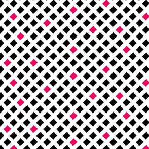 Arizona Diamonds (White, Black and Pink)