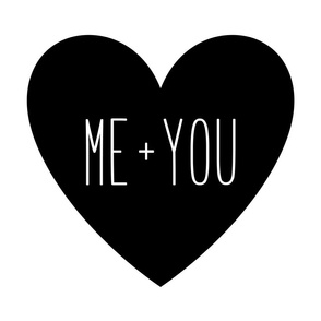 me plus you love heart black and white » plush + pillows // fat quarter