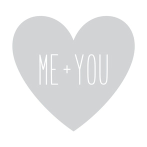 me plus you love heart light grey » plush + pillows // fat quarter