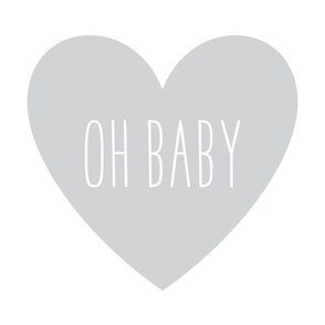 oh baby love heart light grey » plush + pillows // fat quarter