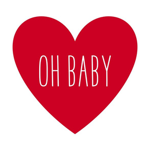oh baby love heart red » plush + pillows // fat quarter