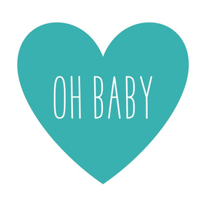 oh baby love heart teal » plush + pillows // fat quarter