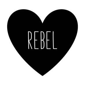 rebel love heart black and white » plush + pillows // fat quarter