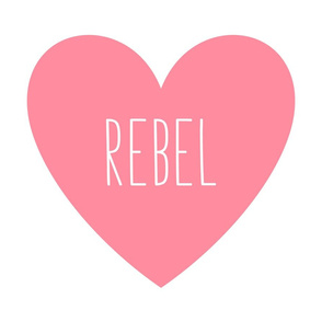 rebel love heart pretty pink » plush + pillows // fat quarter