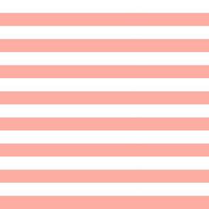 """1/2"""" Peach + White Stripes"""