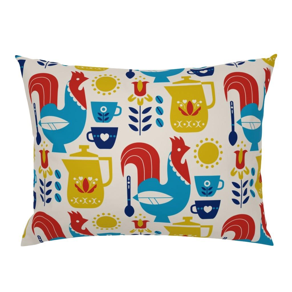 Campine Pillow Sham featuring Morning Kaffe XL by cindylindgren