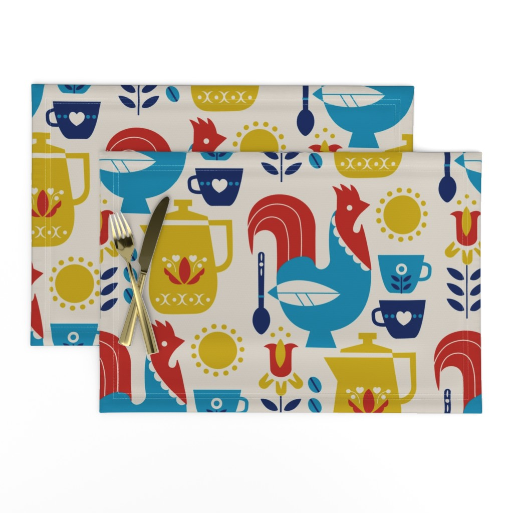 Lamona Cloth Placemats featuring Morning Kaffe XL by cindylindgren