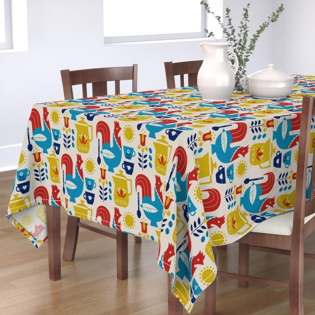 Bantam Rectangular Tablecloth featuring Morning Kaffe XL by cindylindgren