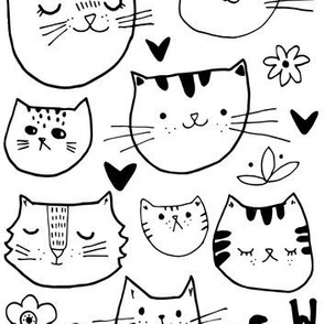 Kitty Cat Faces - Large