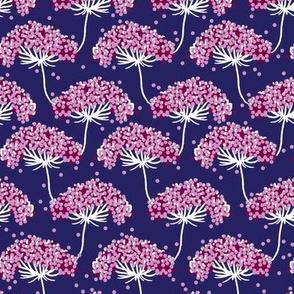 Yarrow Print - Modern Floral - Purple Floral - Wildflower pattern