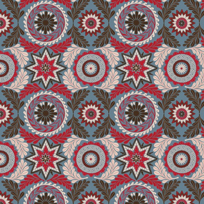 Greek Mandalas in Blue and Red