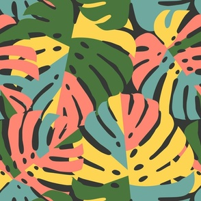 Monstera Leaves in Bold