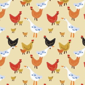 Quilted Hens and Ducks, Farmhouse Friends, Quilted Barnyard Animals, Baby Chicks