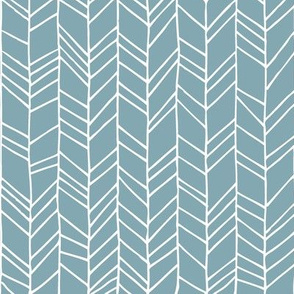 Blue Crazy Chevron Herringbone Geometric Pattern GingerLous