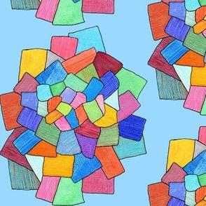 crystalline in blue