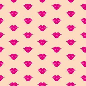 Polka dot pout on pink