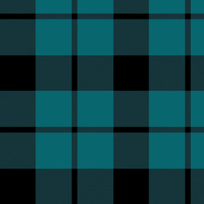 "Brown tartan, custom 10"" teal"