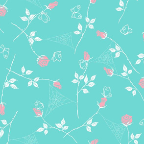 Gossamer and petals - pastel