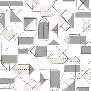 origami folds in taupe