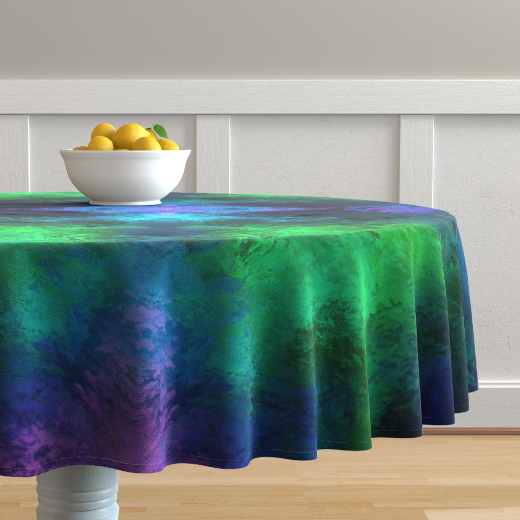 Malay Round Tablecloth featuring BRILLIANT SPRING 1 by poefashion