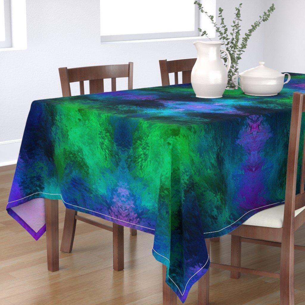 Bantam Rectangular Tablecloth featuring BRILLIANT SPRING 1 by poefashion