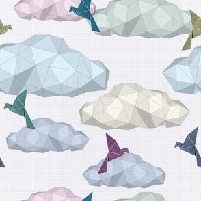 Origami Birds&Clouds