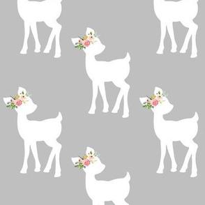 Fawn (medium grey) – Baby Deer Girls Nursery Bedding