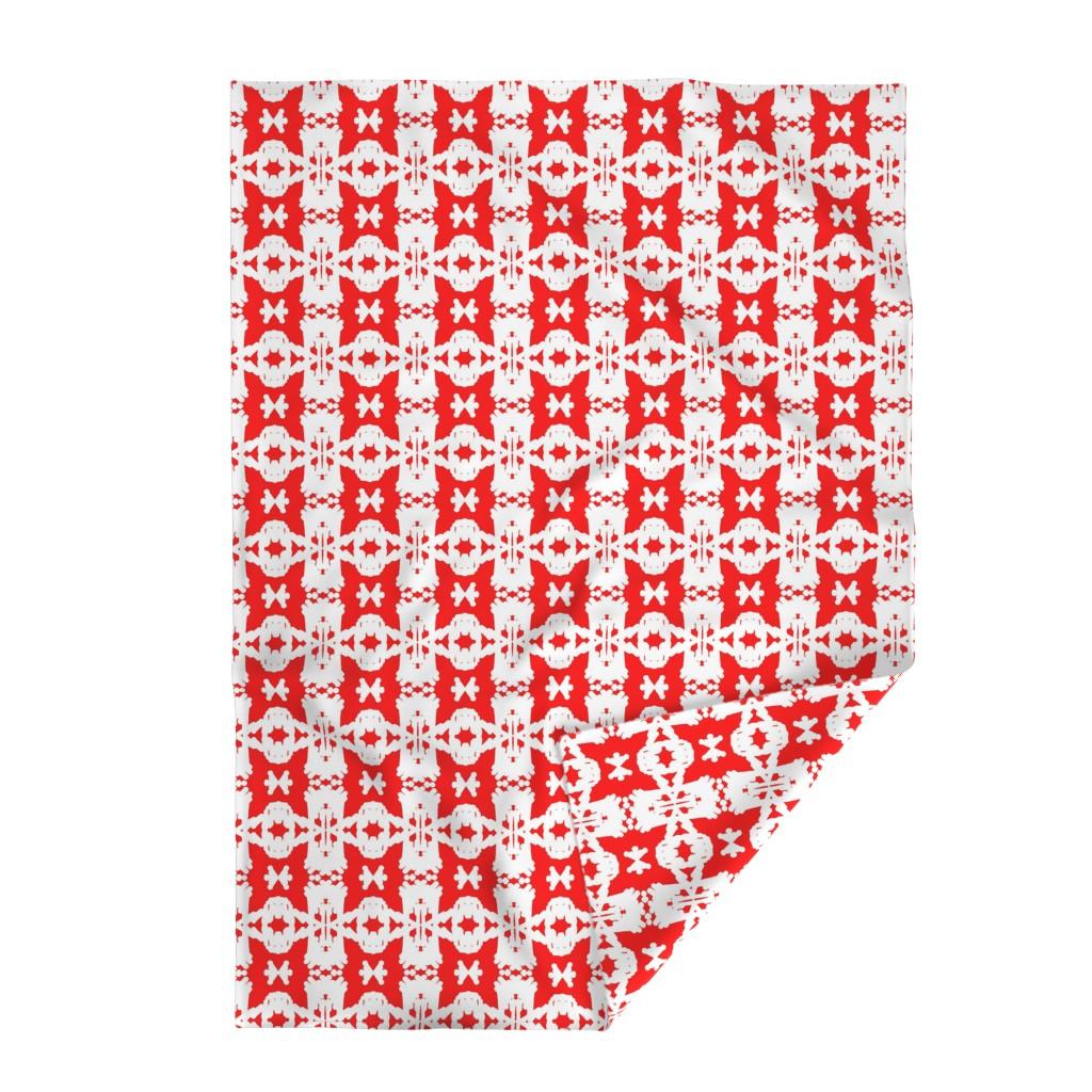 Lakenvelder Throw Blanket featuring Haba Jiri Red, Black & White 4  by tabasamu_design