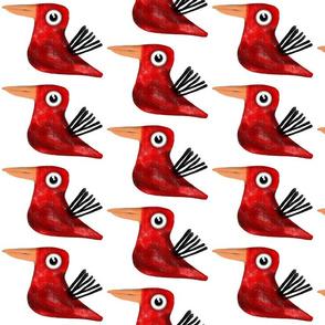 Red Bird Rupydetequila Fabric 2018