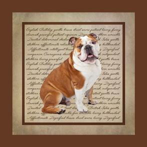 Bulldog Quilt/Pillow Panel