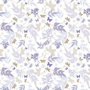 lilac garden and butterflies