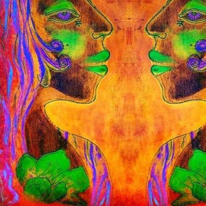 Greenwoman water redneon