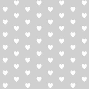 Tiny White Hearts (light gray) – Baby Girl Nursery