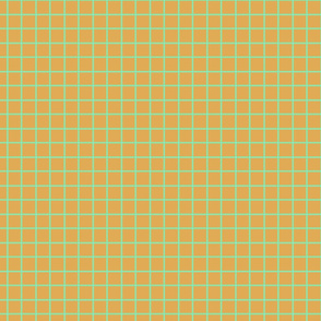 Mint and Gold Plaid