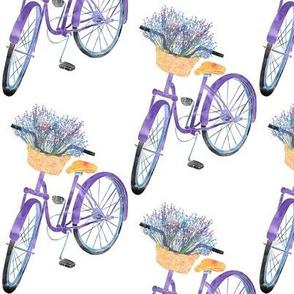 Purple Bike with Lavender