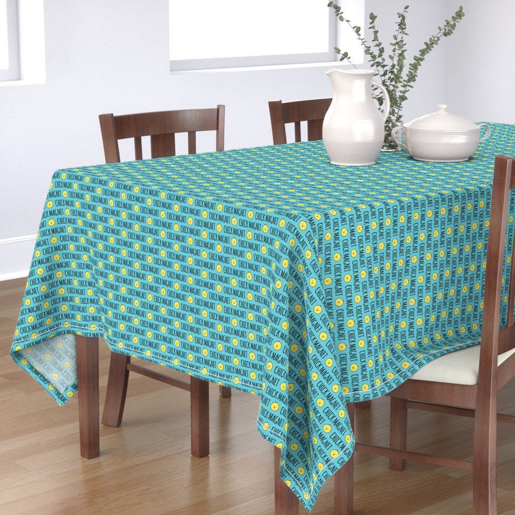 Bantam Rectangular Tablecloth featuring Chick Magnet - Easter Fabric by littlearrowdesign
