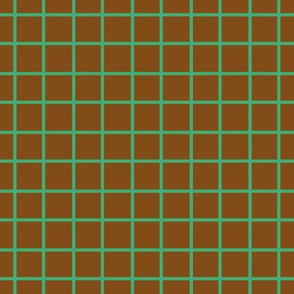 Brown and Green Plaid