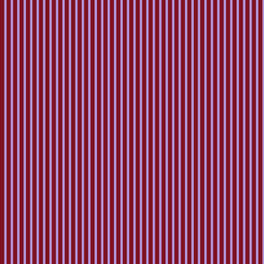Thin Lavender, Thick Red Stripe