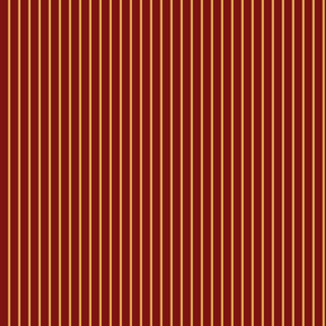 Gold Pinstripes on Red