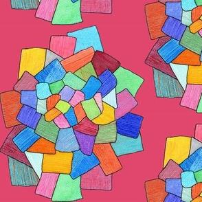 crystalline in bright pink