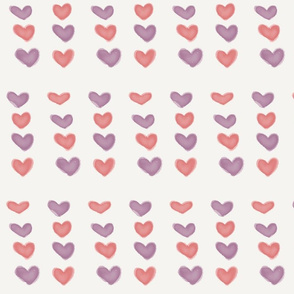 Pink and Purple Watercolor Hearts