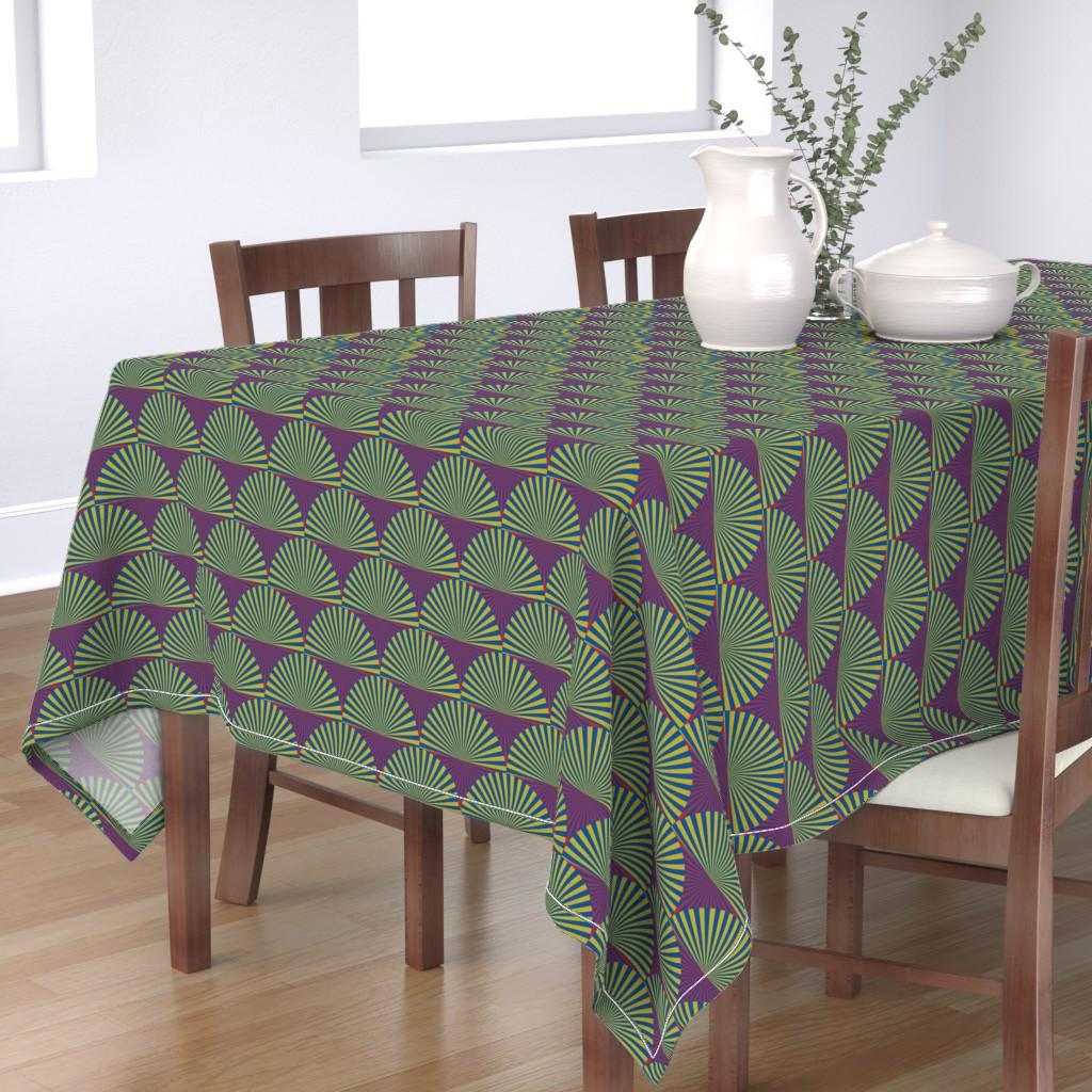 Bantam Rectangular Tablecloth featuring Deco Sunburst Scales by elizabethmay