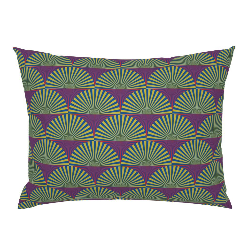 Campine Pillow Sham featuring Deco Sunburst Scales by elizabethmay