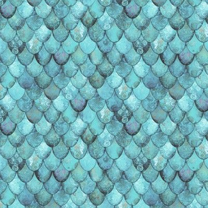 SMALL Silver + Light Teal Mermaid or Dragon Scales by Su_G_©SuSchaefer