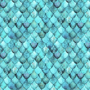 SMALL Light Teal Mermaid or Dragon Scales by Su_G_©SuSchaefer