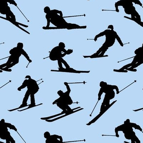 Skiers on Blue // Small