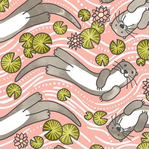 Swimming Otter Girls