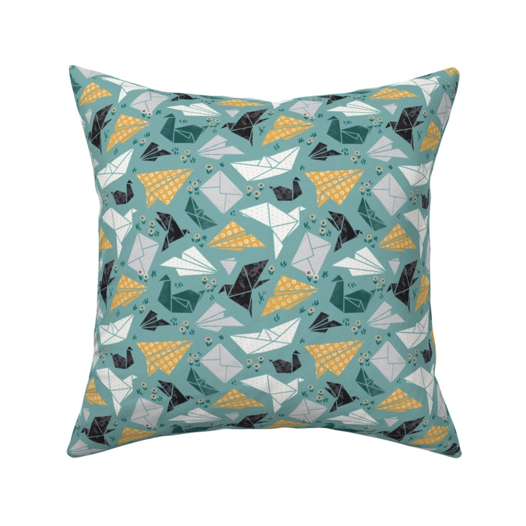 Catalan Throw Pillow featuring good mood origami by daria_nokso
