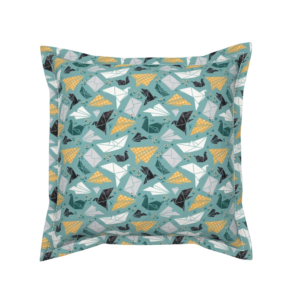Serama Throw Pillow featuring good mood origami by daria_nokso